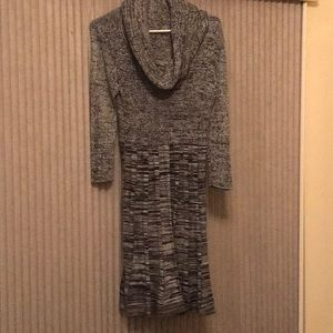 Sandra Darren Cowl Neck Sweater Dress L